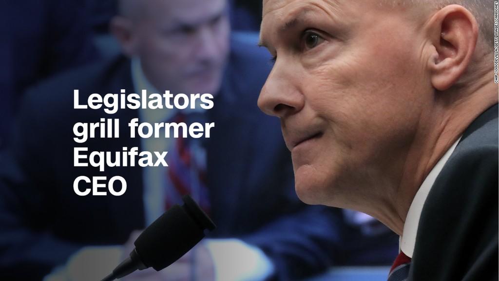 Legislators grill former Equifax CEO