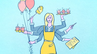 You are not the 'office mom.' So why do you do the office housework?
