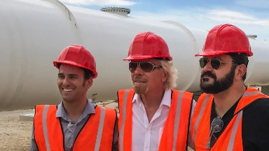 Richard Branson invests in the hyperloop