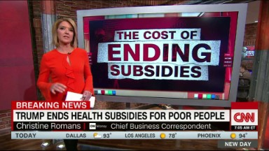 Trump ends subsidies to insurers that help pay for poor people