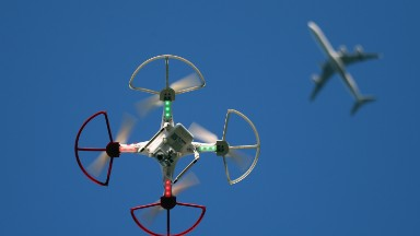 Drone hits passenger plane in Canada