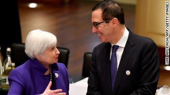 Janet Yellen Federal Reserve Mnuchin