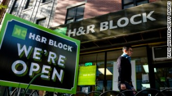 hr block tax sign