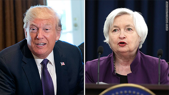 Next Fed candidate meets with Trump: Janet Yellen