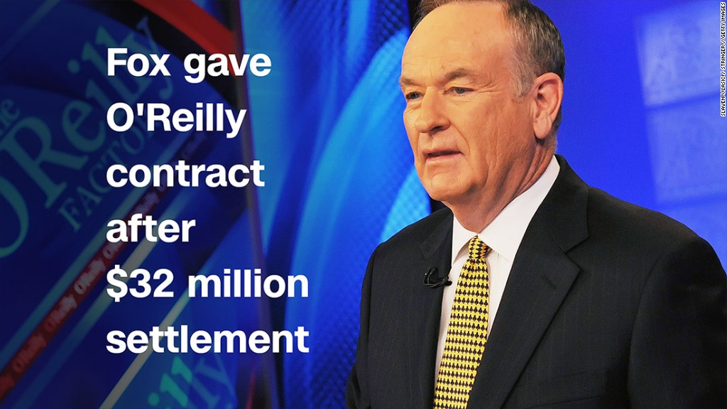 Fox gave O'Reilly contract after $32 million settlement