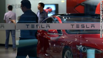 tesla beijing showroom china
