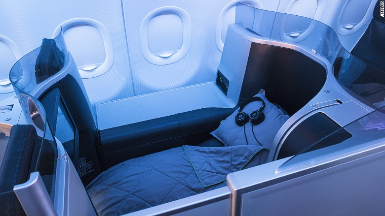 Best airline beds JetBlue Mint bed