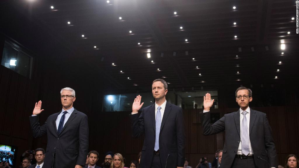 Facebook, Google, Twitter get grilled on Russian ads
