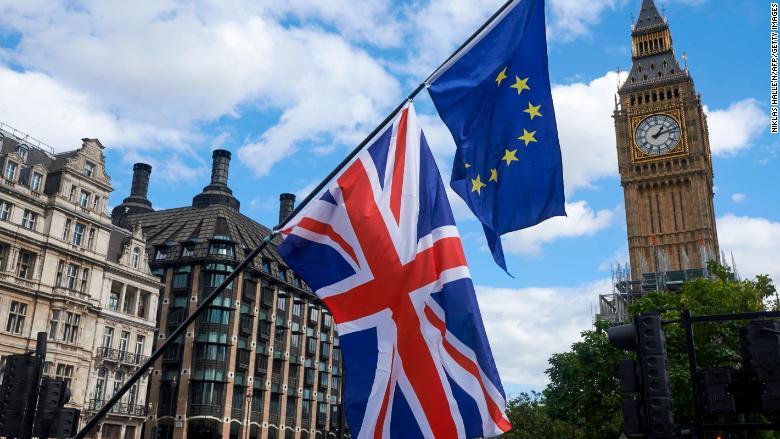 uk eu brexit flag big ben