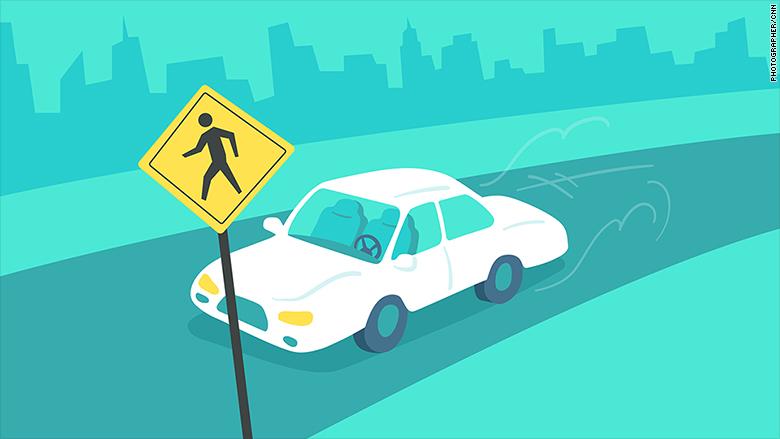 self driving car jaywalking