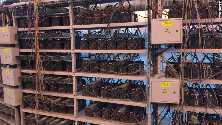 Bitcoin Mining Computers Line The Shelves At Russian Center In Moscow
