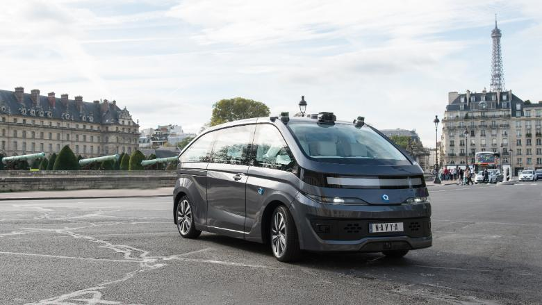 Navya unveils its self-driving taxi
