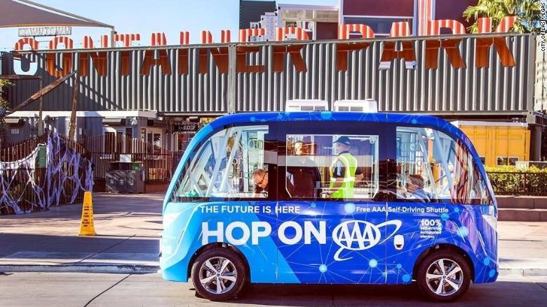 Las Vegas self-driving shuttle