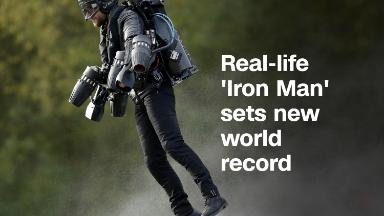 Real-life 'Iron Man' sets new world record