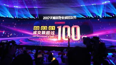 Alibaba Singles Day sales hit $1 billion in just 2 minutes