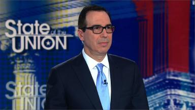 Mnuchin pressed on Trump's false tax claim