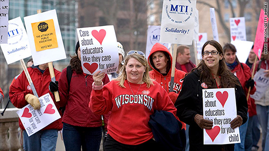 What happened to teachers after Wisconsin gutted its unions
