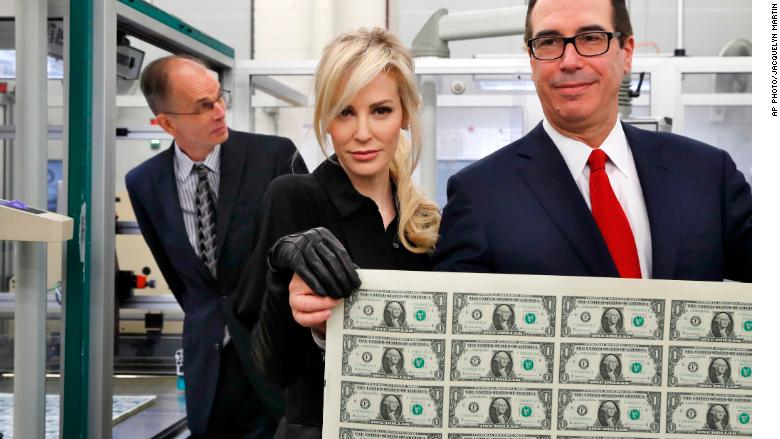 louise linton steven mnuchin currency