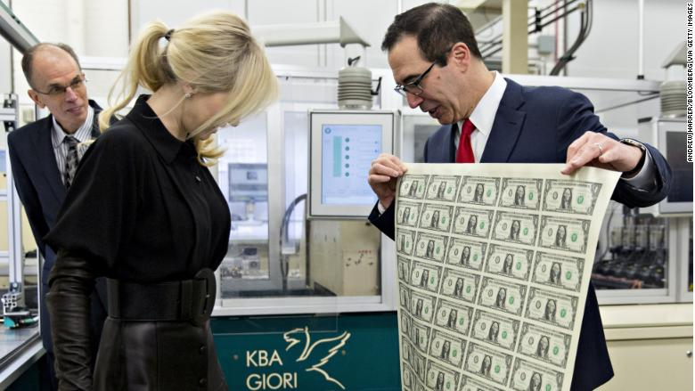 Louise Linton Gloves >> Steven Mnuchin's wife strikes a pose with a sheet of money - Nov. 15, 2017