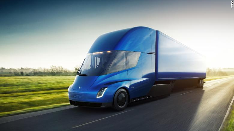 tesla semi blue