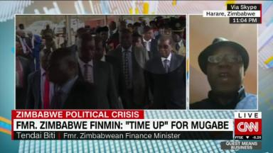 "Zimbabwe's Former Finance Minister: ""Time Up"" for Mugabe"