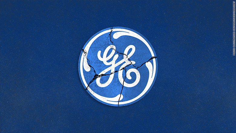 general electric ge logo crack