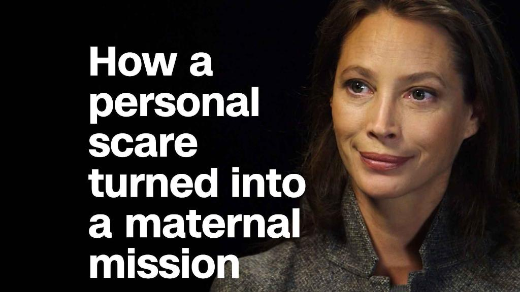 How Christy Turlington Burns turned a personal scare into a maternal mission