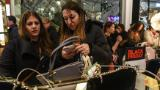 Black Friday shoppers hit the stores on Thanksgiving Day