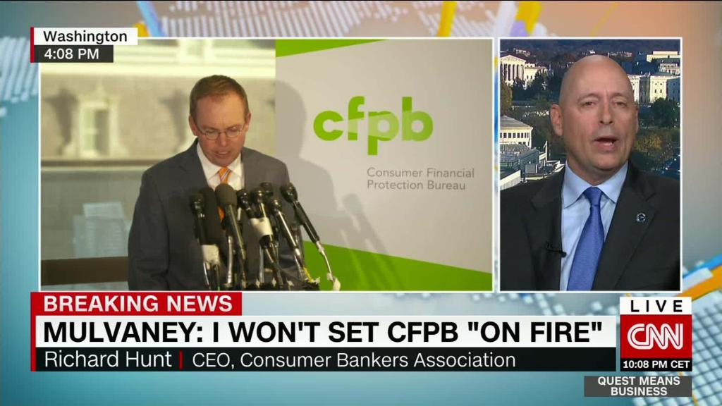 CFPB gives too much power to one person, says Consumer Bankers Ass'n