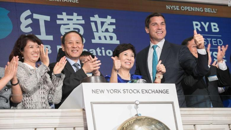 RYB Education rings opening bell at NYSE