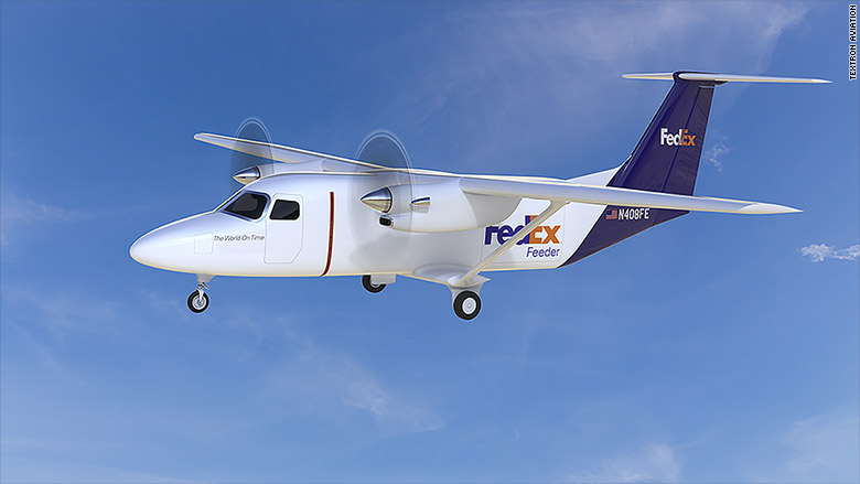 fedex cessna skycourier cargo plane 2
