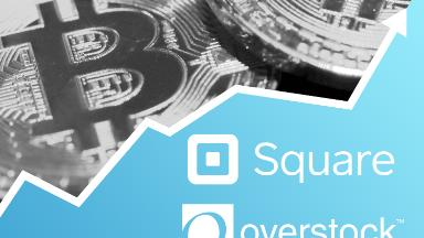 Bitcoin craziness spreads to Overstock, Square