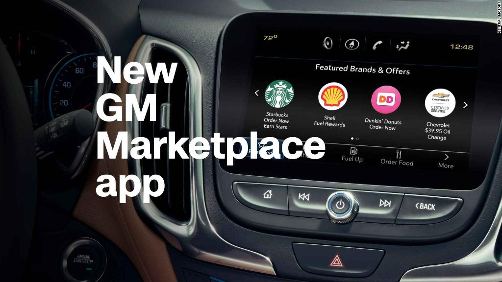GM app lets you order coffee while you drive