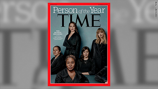 Time Person Of The Year >> Time S Person Of The Year 2017 Is The Silence Breakers Dec 6
