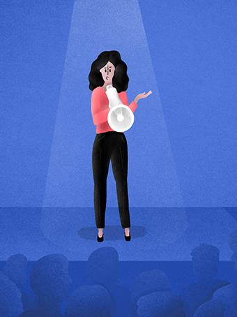 women harassment speak out crowd