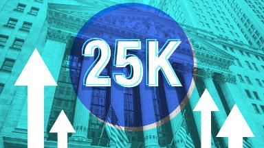 Dow races to 25,000 for the first time