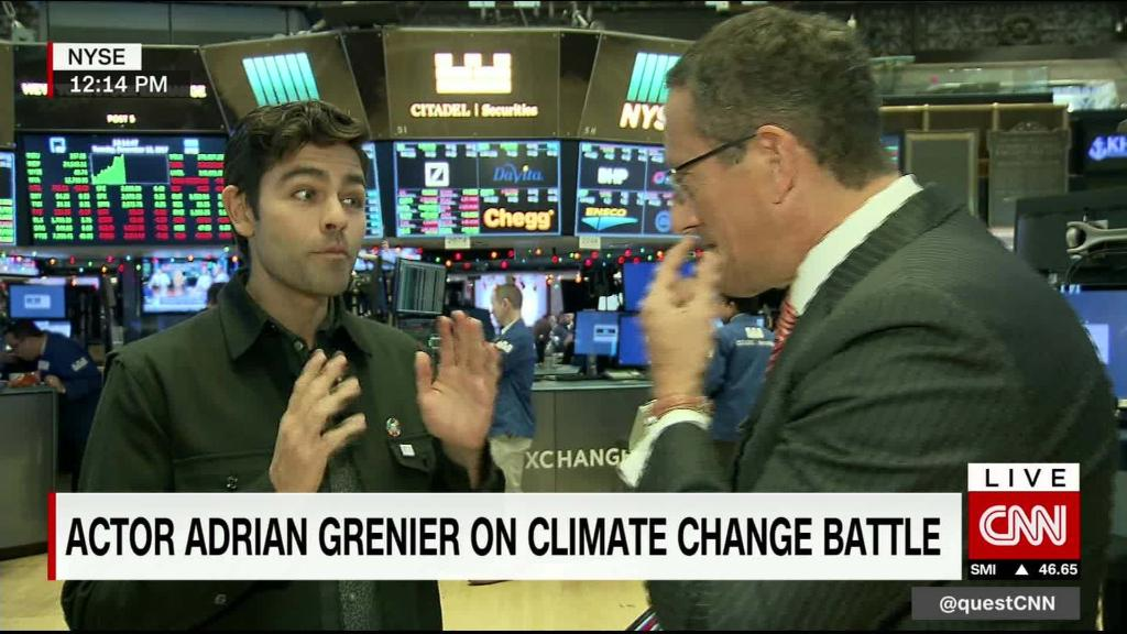 Entourage's Adrian Grenier hits Wall Street to help clean up the oceans