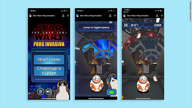 star wars porg invasion screenshots