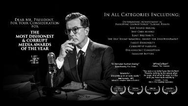 Colbert rallies for Trump's fake news awards