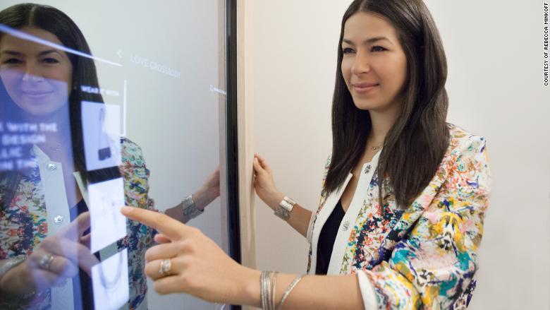 rebecca minkoff connected store mirror