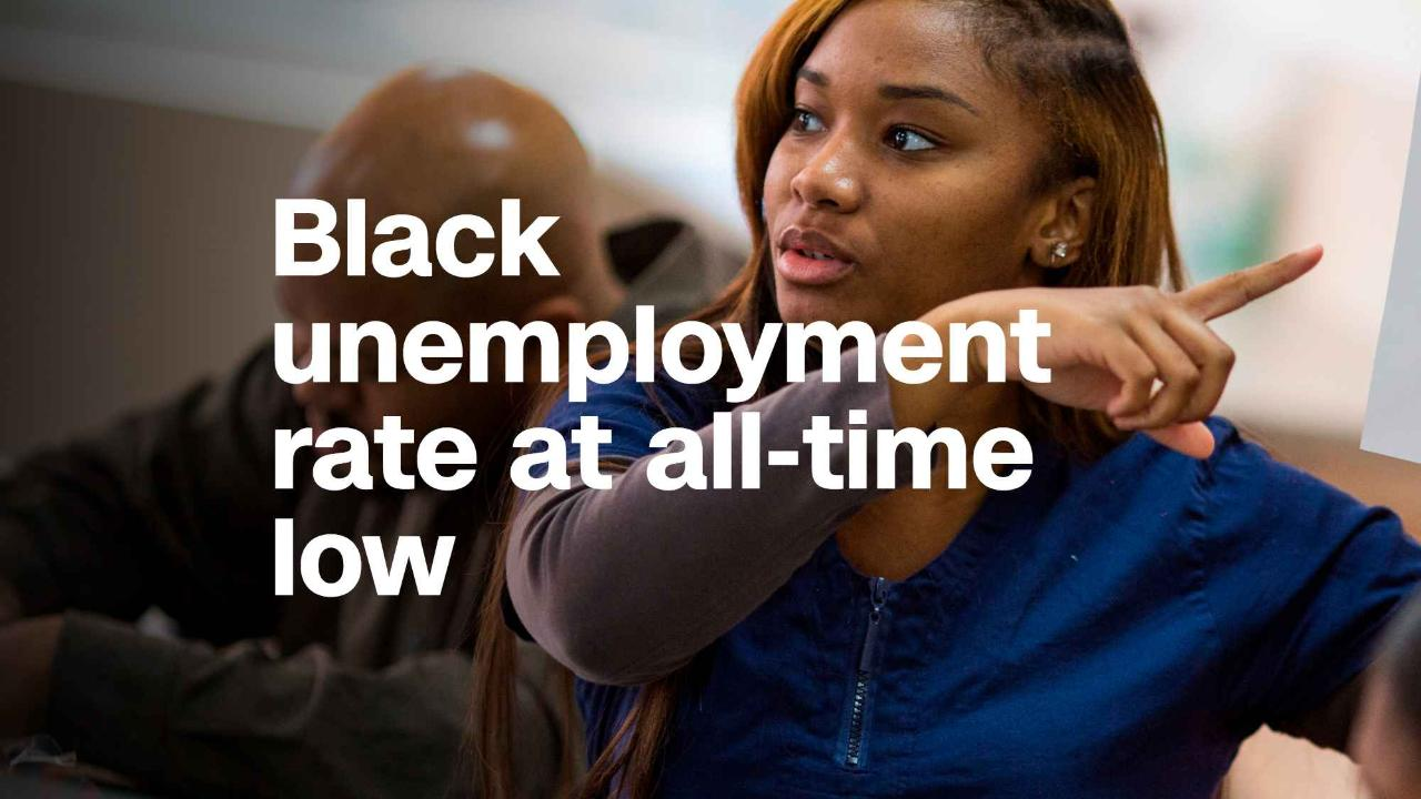 Black unemployment rate is lowest on record at 6.8% ...