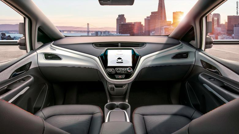 Gm Introduces A Self Driving Car Without A Steering Wheel Jan 12 2018