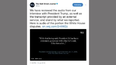 The White House disputes WSJ's quote