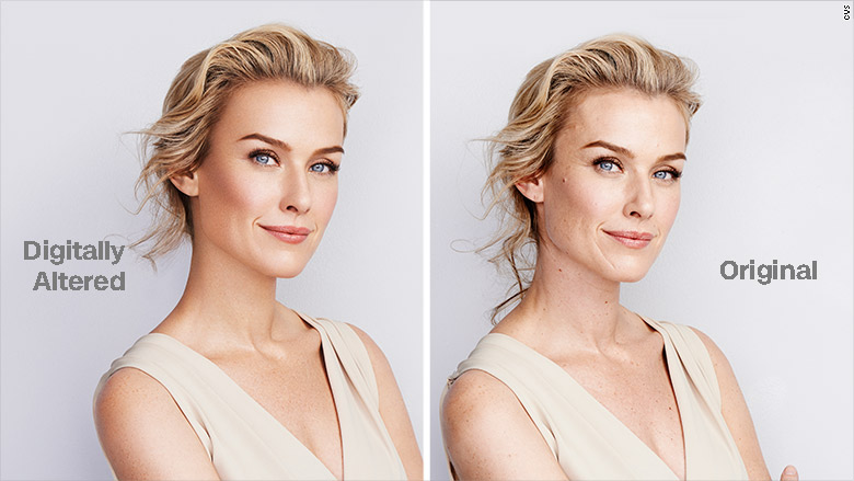 cvs beauty digitally altered photos