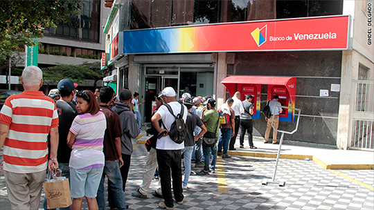 You can't get $1 out of a Venezuelan bank. I tried