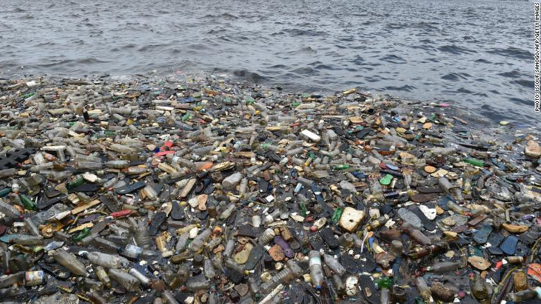 plastic pollution beach