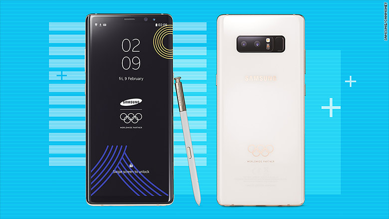 Samsung Reveals Special Edition Galaxy Note 8 for the 2018 Olympic Games