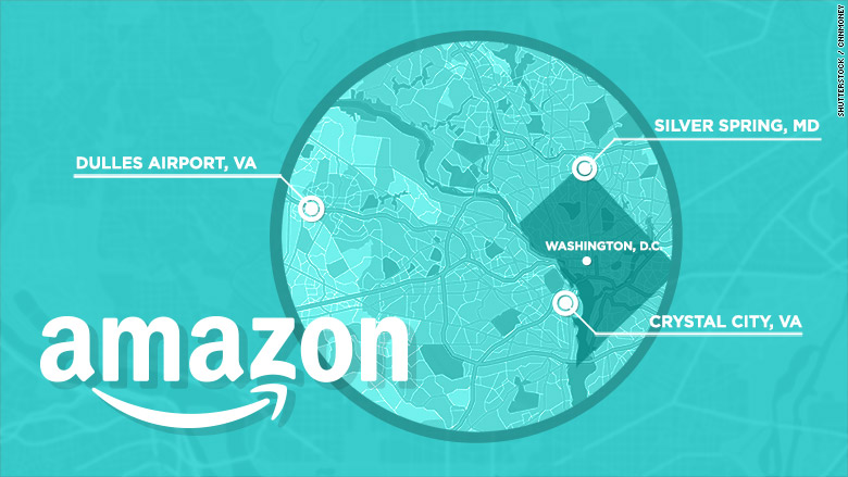 Amazon announces candidate cities for HQ2