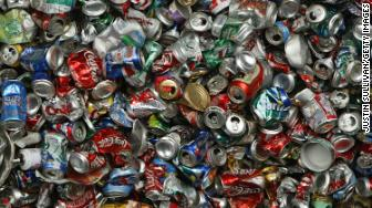 recycled cans