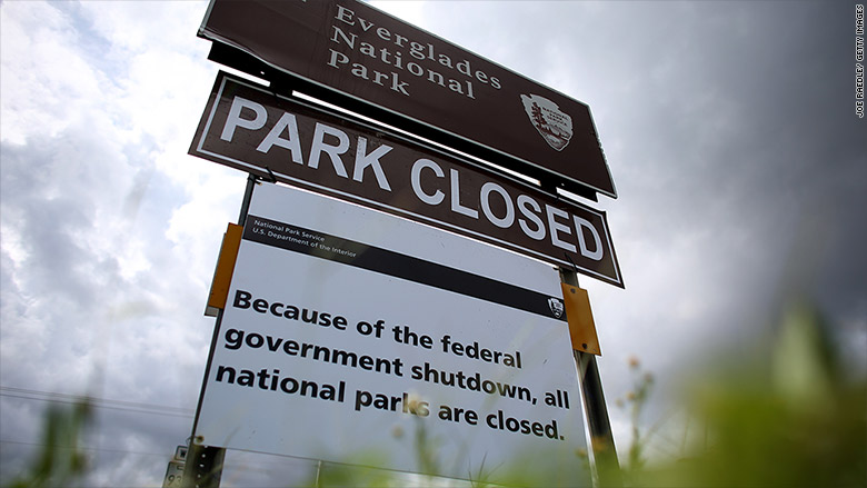 Here's what the last government shutdown looked like